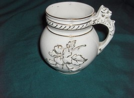 "Antique Haynes Ware Baltimore Pottery 1800's Ivory Floral Toulon 4.50"" P... - $44.55"