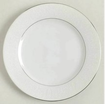Bread & Butter Desset Plate Lovelace by CROWN VICTORIA Set of 4 White Si... - $16.08