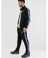 Nike Tribute N98 Track Full Suit Set Jacket Pants Black South Beach Miam... - $113.99