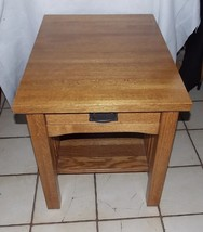 Solid Oak Mission End Table / Side Table - $399.00