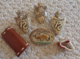 Vtg. Collection of 6 B.S.A. Neckerchief Slides from Philmont Scout Ranch... - $39.99