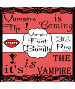Vampire Font Bundle 2 - $3.99