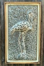 Washboard Galvanized Steel Flamingo Wall Sculpture Florida Keys Beach Ho... - $45.00
