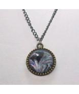 Black Marbled Crown Pendant - $16.00