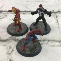 Marvel Comic Book Hero Mini Cake Topper Figures Lot-3 Iron-Man Venom Spi... - $11.88