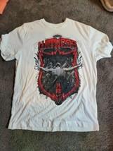 Nike WITNESS Dri Fit Lebron James T Shirt Mens Large White - $25.95