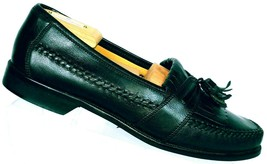 Bostonian Florentine Men's Black Leather Moc Toe Kilted Tasseled Loafer 9.5 M - $28.32