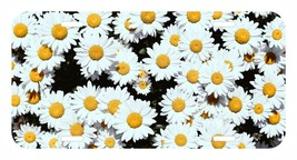 Daisy Flowers bunch USA Metal Black License Plate - $9.99