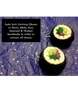 Handmade To Order - Sterling Silver Sushi Roll Earrings - $33.91