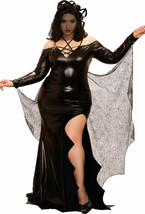 Dreamgirl Black Widow Spider Web Dress Plus Size Womens Halloween Costum... - $64.99