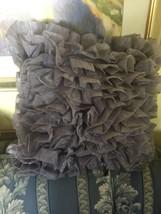 """Needlepoint Pillow 20"""" X 20"""" One Organza Ruffle... - $51.48"""