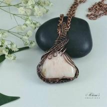 Clara Wire Wrap Pink Scolecite Necklace - $53.46