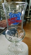 "PLANET HOLLYWOOD Souvenir 8.25"" ORLANDO HURRICANE GLASS Logo FLORIDA e71 - $12.59"
