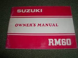 1983 83 Suzuki RM60 Rm 60 Owners Manual Owner Owner's - $10.70