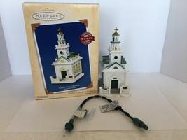 Hallmark Keepsake Ornament Colonial Church Magic Light #7 In Series 2004 - $10.00