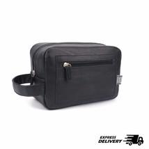 Mens Toiletry Travel Bag PU Leather Shaving Dop... - $12.16