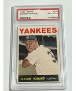 1964 TOPPS ELSTON HOWARD #100 NEW YORK YANKEES PSA 6 EX-MT (DR) - $44.46