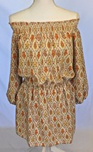 New Sanctuary Clothing Elle Boho Dress White Yellow Orange Print Size M ... - $19.99