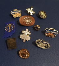 Vintage 70s Lapel Pins- Stick Pin Badges/Pin Backs- Metal/Plastic