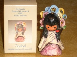 DeGrazia Annual Goebel Ornament Flower Girl Porcelain 1988 Third Edition NIB - $24.74