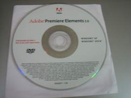 Adobe Premier Elements 3.0 (DVD-ROM, 2006) - Replacement Disc Only!! - $6.92