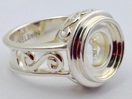 Authentic Kameleon Sterling Silver Scroll Ring Ring Kr-2 Kr002  Size 6, New - $40.75