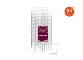 Elite Selection Pack Of 80 Disposable Party Hard Plastic 2 Oz. Shot Glas... - $13.33