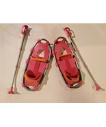 American Girl Doll 2011 Pink SNOWSHOES and Matching POLES-EUC - $15.83