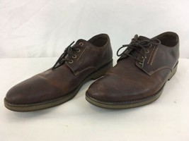 Clarks Hinman Plain Mahogany Mens 12 Brown Leather Casual Oxford Shoes - $48.51