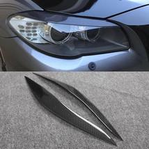 Carbon Fiber Car Headlight Cover Eyebrows Eyelid Trim  Fit For BMW F10 1... - $69.29