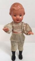 """Vintage 4 1/2"""" Boy Doll Celluloid Plastic Paint... - $46.60"""