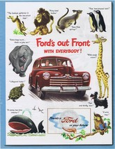 1946 Ford Super Deluxe Animal Art Print Ad - $9.99