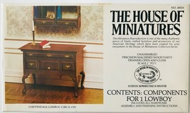 House of Miniatures 1:12 Chippendale Lowboy Circa 1725 Kit #40024 Unassembled - $19.34