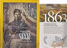 "National Geographic Magazine ""The Civil War Special Issue"" & poster (May... - $4.95"