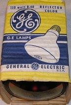 General Electric 150R40 150 Watt R40 Red Incandescent Reflector Flood La... - $12.99