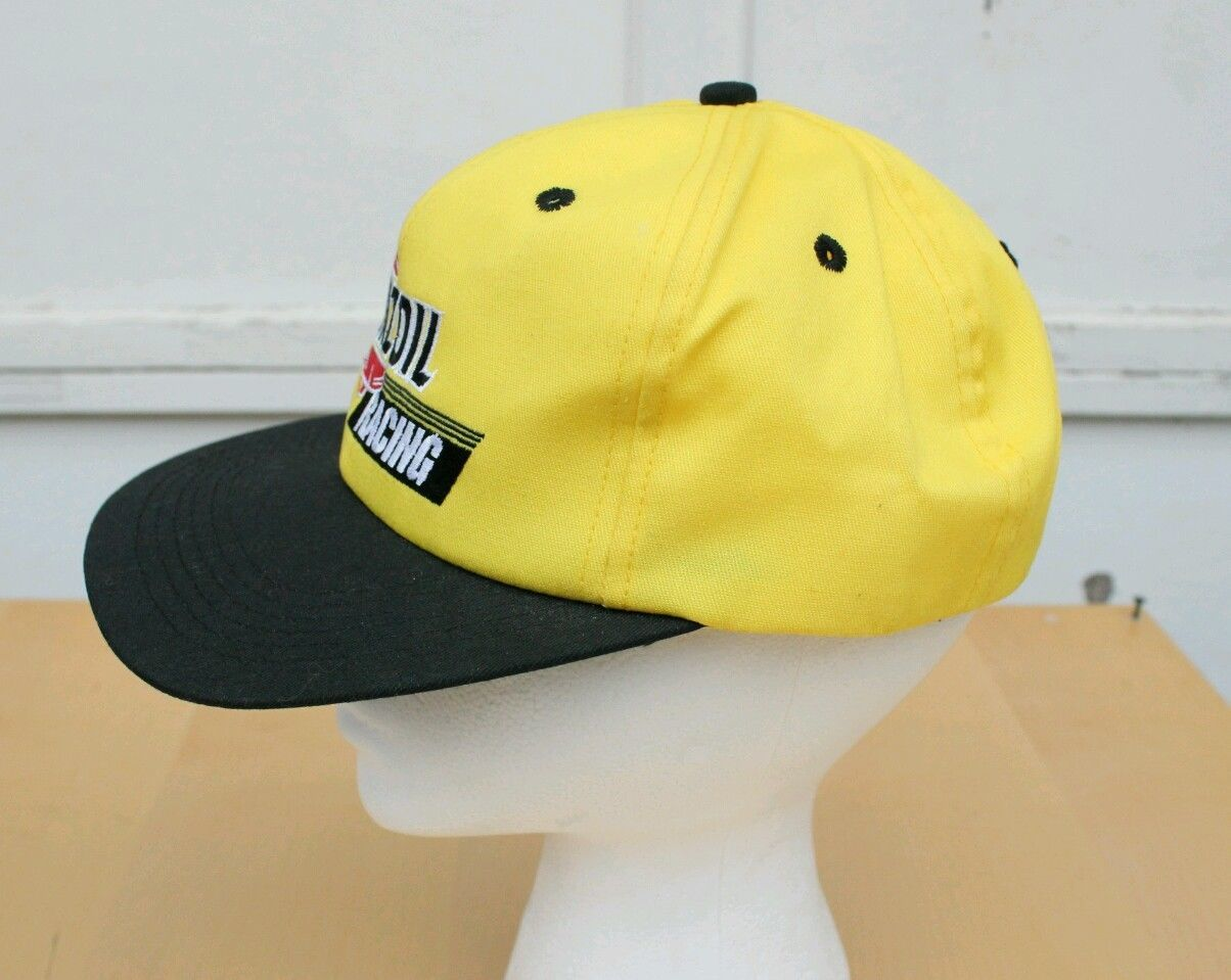 PENNZOIL RACING FORMULA 1 PIT CREW YELLOW EMBROIDERED CAP ADJUSTABLE HAT