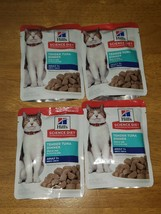 4pc Hills science diet cat food Tender Tuna Dinner Adult pouches - $14.85