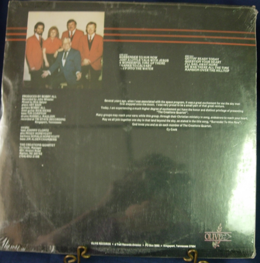 The Creations Quartet - Surrender to Him Now - Olive Records - SEALED