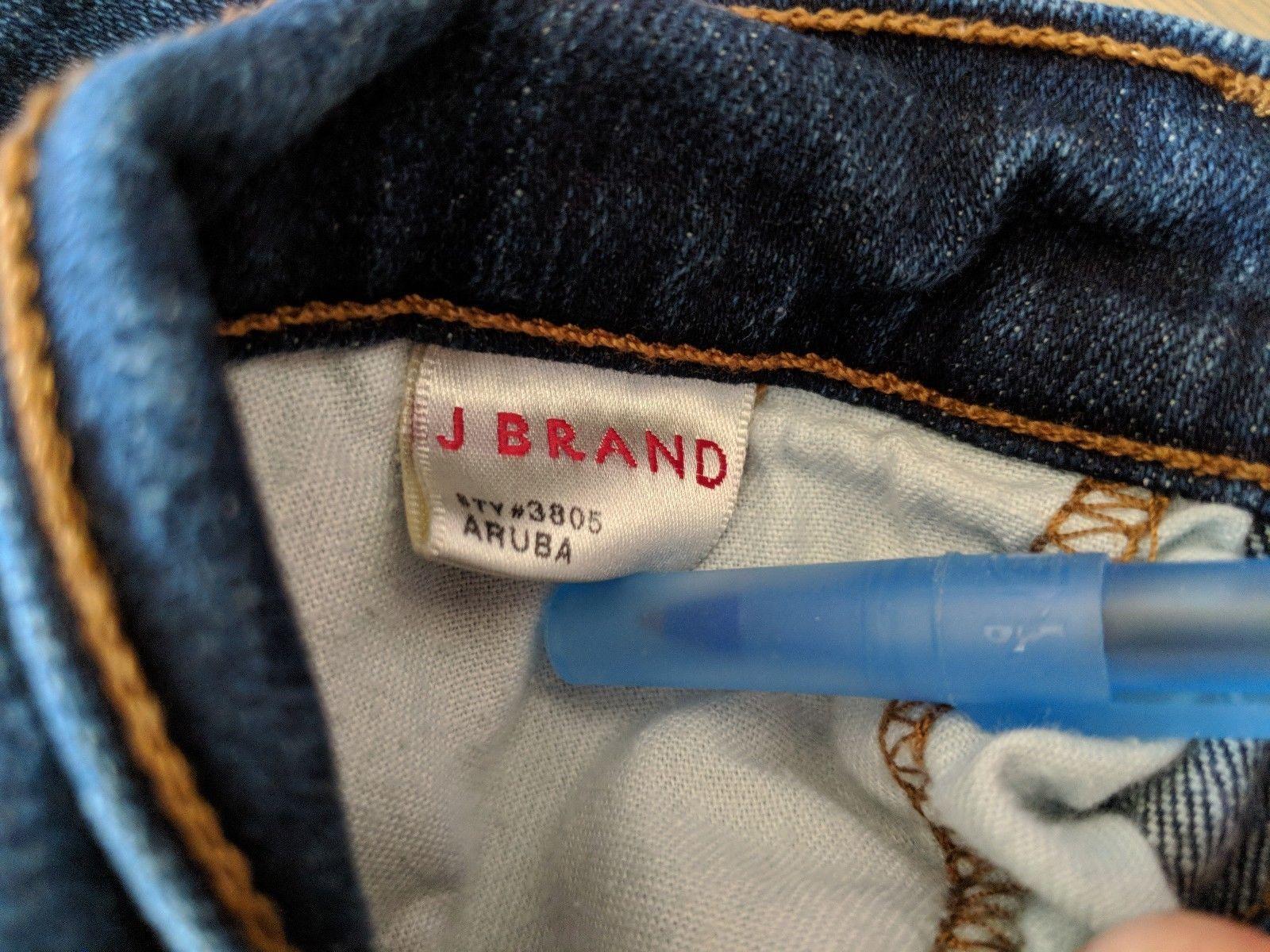 J Brand 28 Aruba Denim Skinny Slim Stretch Medium Wash Jeans Womens Pants image 7