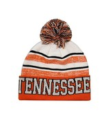 Tennessee Men's Blended Stripe Winter Knit Pom Beanie Hat (Orange/White) - $13.75