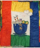 Noah's Ark Crib Quilt by Glenna Jean Hand Crafted Bright Primary Colors - $49.49