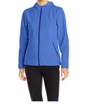 Large 12-14 Women's White Sierra Full Moon Hooded Softshell Jacket Ice Blue NEW