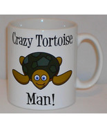 Crazy Tortoise Man Mug Can Personalise Funny Animal Lover Keeper Beware ... - $9.21