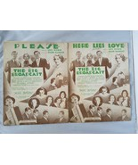 The Big Broadcast Vintage Spartito 2 Songs per Favore & Here Lies Love 1932 - $55.78