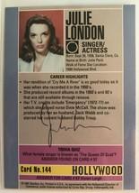 Julie London (d. 2000) Signed Autographed 1991 Hollywood Walk of Fame Tr... - $19.99
