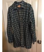 plaid cotton shirt size 2XT Red Oak Ranch Apparel - $19.80
