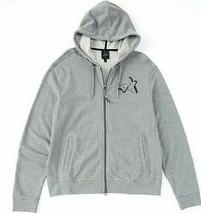 Armani Exchange A|X Mens Full Zip Logo Gray Cotton Hooded Jacket Hoodie XL - $51.38