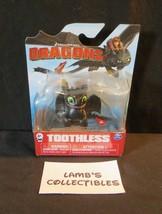 Dreamworks Dragons Begging Toothless action mini figure Night fury Smili... - $37.99