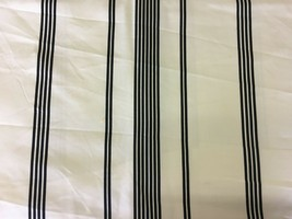 Robert Allen Black and White Stripe Multi-Purpose Fabric 3.5 yards - $46.55