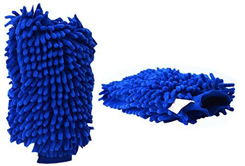 Microfiber Car Wash Scratch-Free Wash Mitt Easy Car Cleaning Set of 2